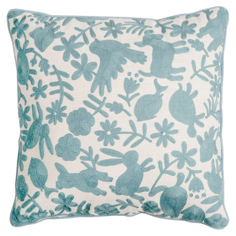 Animalitos Cushion - Mid Blue