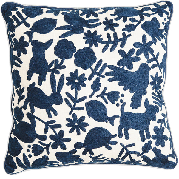 Animalitos Cushion - Navy Blue