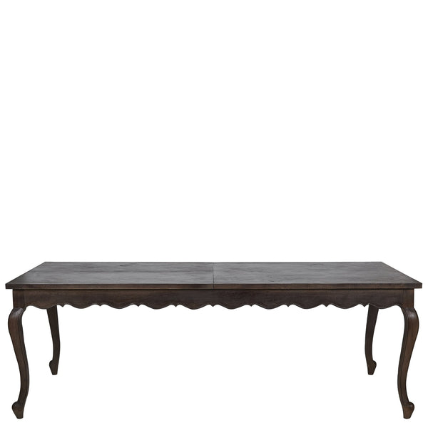 Parquetry Extendable Dining Table - Medium Antique Colonial Finish
