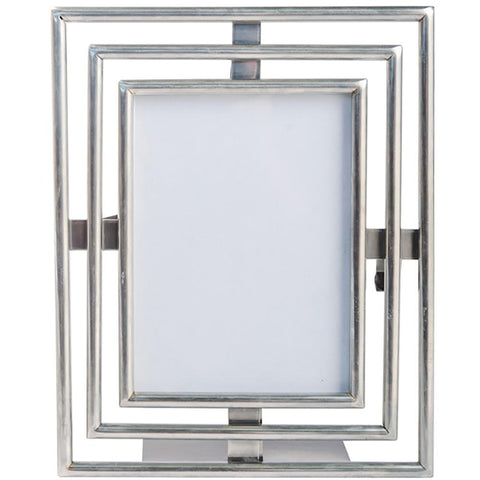 Art Deco Photo Frame - Large - Pewter