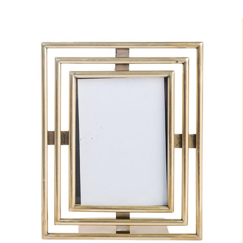 Art Deco Photo Frame - Large - Gold
