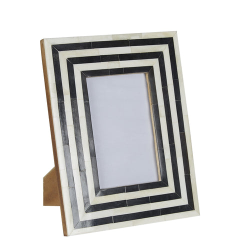 Bone / Horn Photo Frame - Black / White