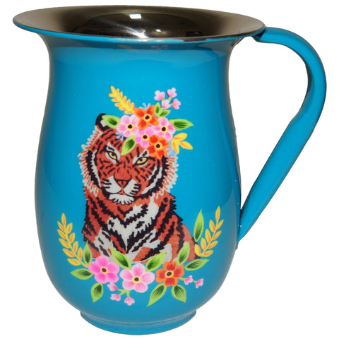 Tiger Jug - Floral Garland - Blue Multi