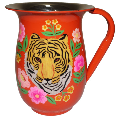 Tiger Jug - Portrait - Orange Multi