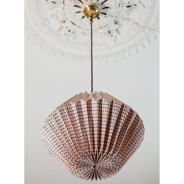 Kite Light Shade - Oval Cross - Grey / White / Orange