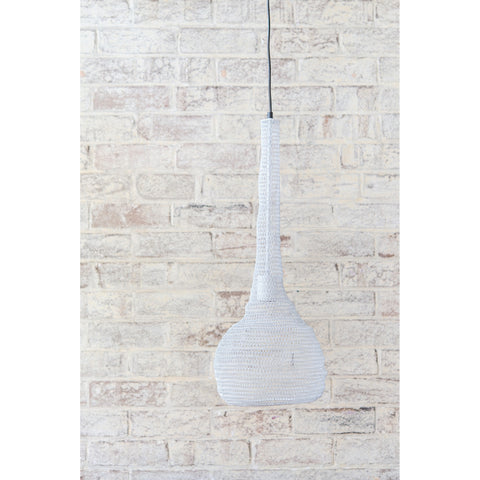 Crochet Lamp - Bulb - White