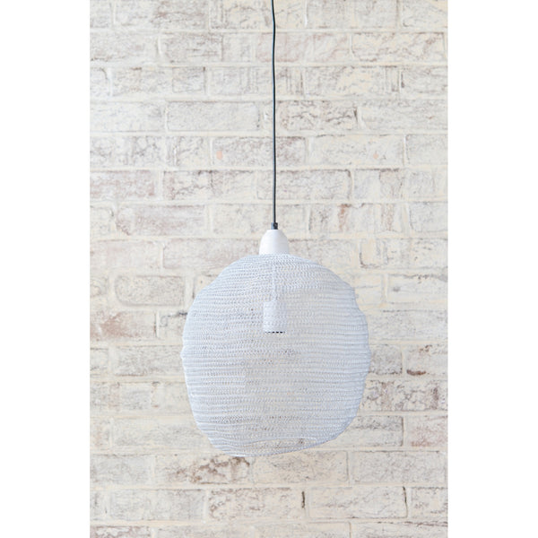 Crochet Lamp - Ball - White
