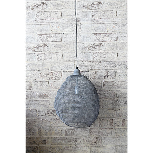 Crochet Lamp - Ball - Grey