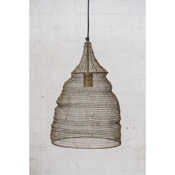 Crochet Lamp - Cone - Matt Gold