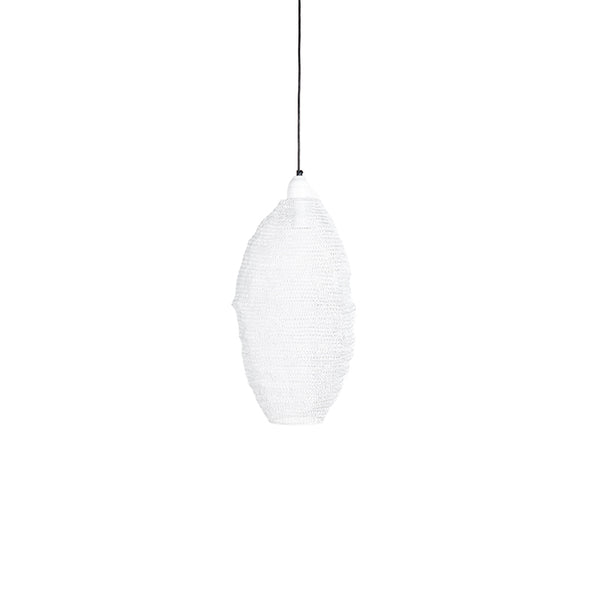 Crochet Lamp - Pod - Medium - White
