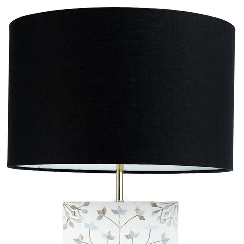 Drum Shade - Linen - Black
