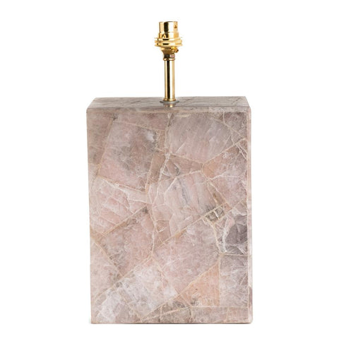 Pink Quartz Lamp Base - Pink