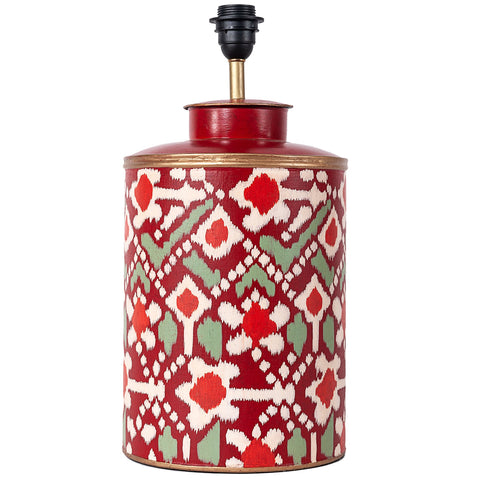 Ikat Lamp Base - Red