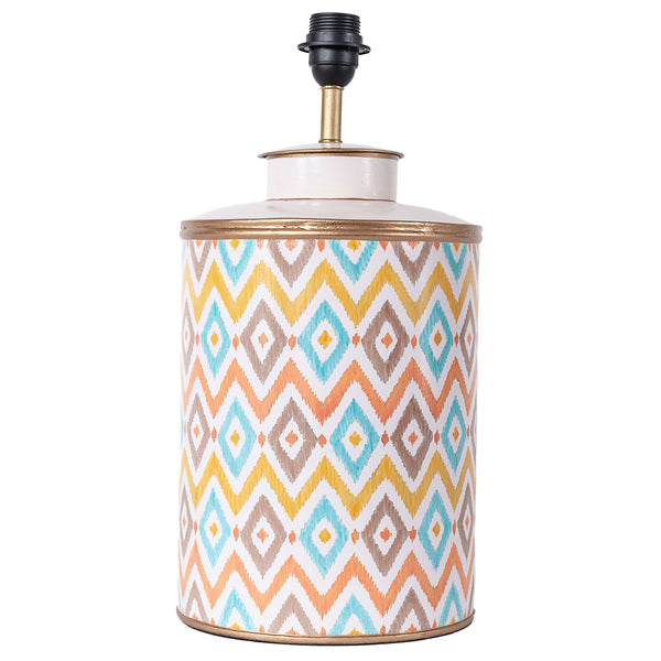 Chevron Lamp Base - Multicolour