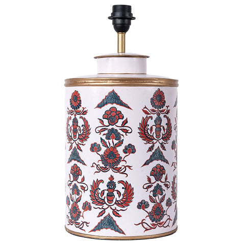 Batik Lamp Base - Blue / Red