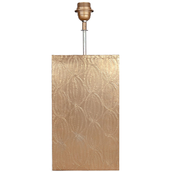 Brass Metal Rectangular Lamp Base - Brass