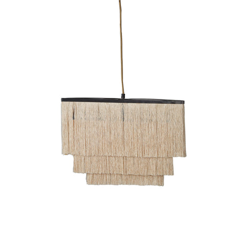 Fringed Pendant Lamp - Flapper - Ivory