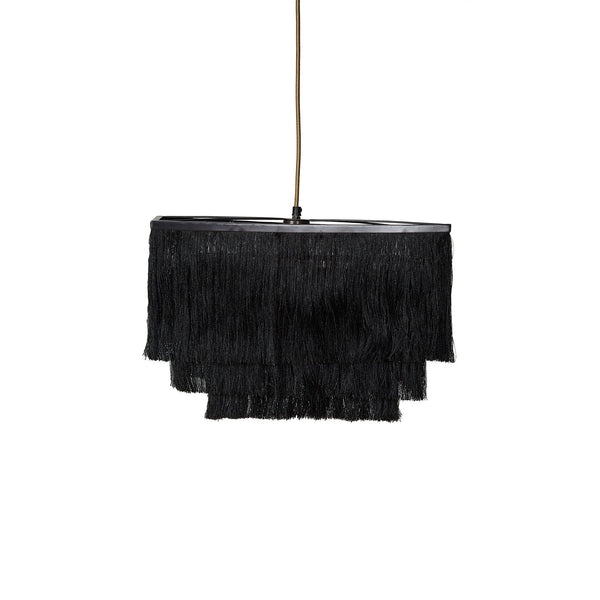 Fringed Pendant Lamp - Flapper - Black