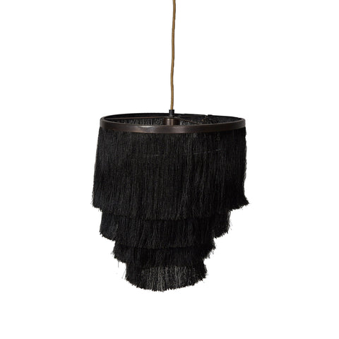 Fringed Pendant Lamp - Gatsby - Black