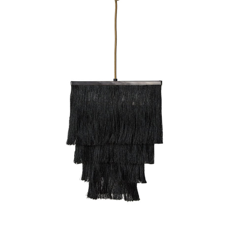 Fringed Pendant Lamp - Daisy - Black