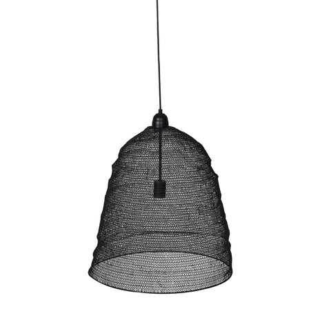 Crochet Lamp - Cone of Silence - Black