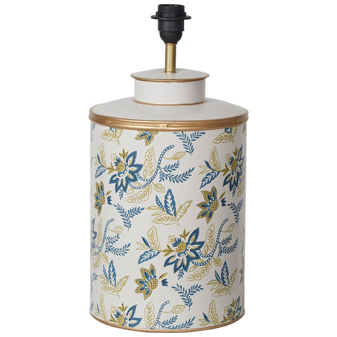 Block Print Lamp Base - Green / Blue