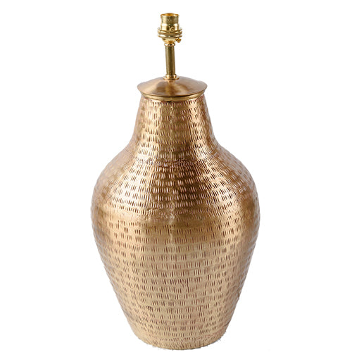 Gold Plated Brass Lamp Base - Vase - Gold