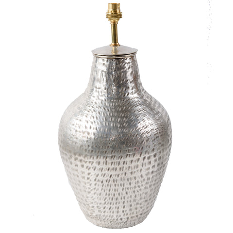 Silver Plated Brass Lamp Base - Vase - Silver