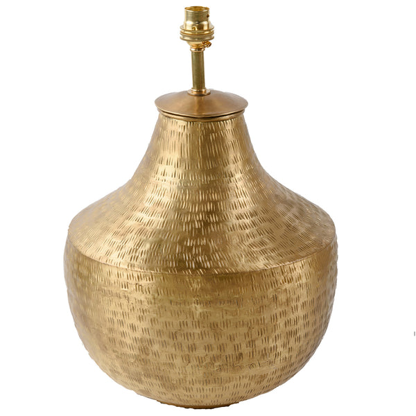 Gold Plated Brass Lamp Base - Urn - Gold