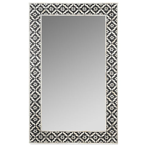 Bone Inlay Mirror - Wallpaper - Black