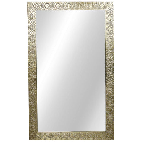 Embossed Mirror - Brass Finish - Brass