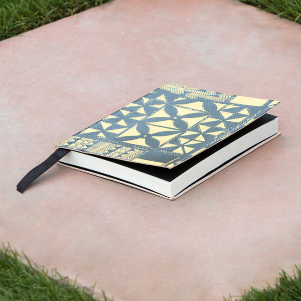 Tribal Leather Journal - Mustard / Black