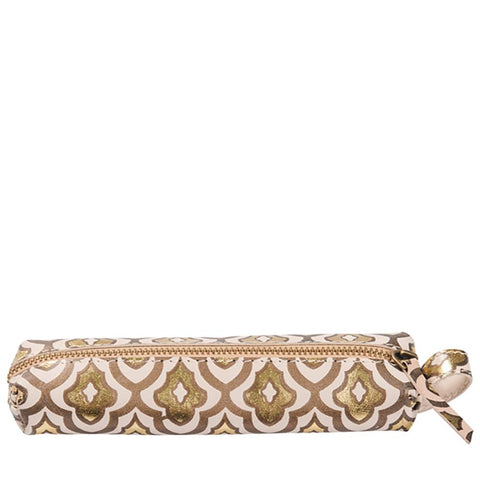 Decadence Leather Pencil Pouch  - Fleur de Lys - C