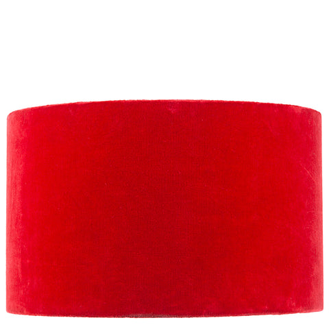 Drum Shade - Velvet - Red