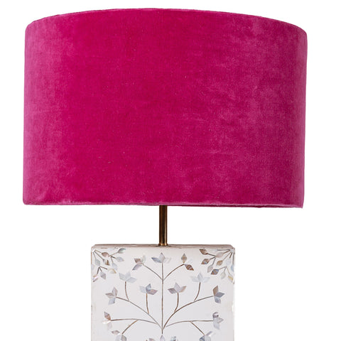 Drum Shade - Velvet - Fuchsia