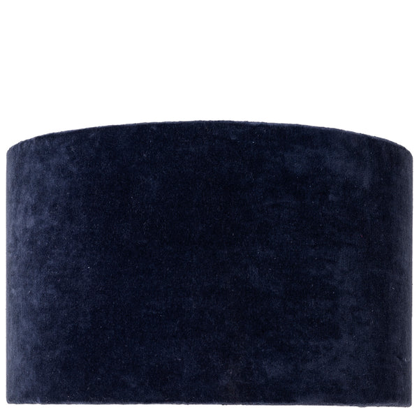 Drum Shade - Velvet - Midnight Blue