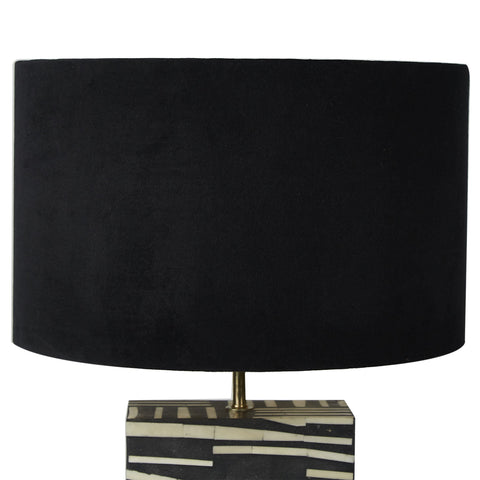 Drum Shade - Velvet - Black