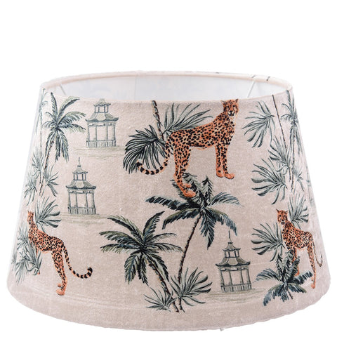 Drum Lampshade - Cheetah - White Multi