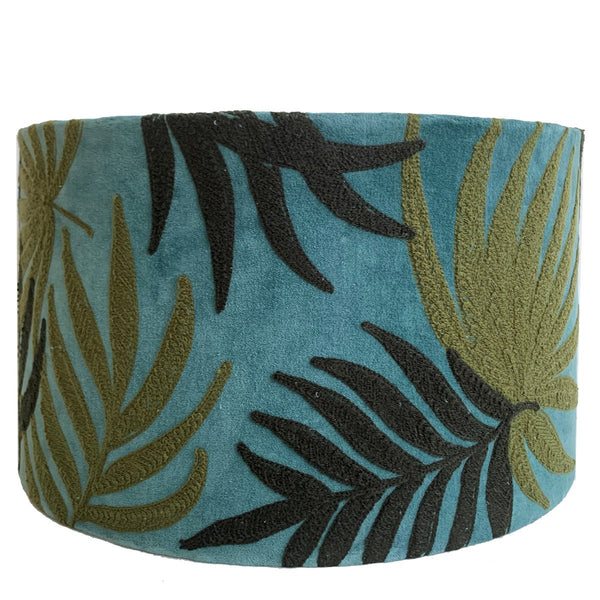 Drum Shade - Velvet - Jungle - Multicolour