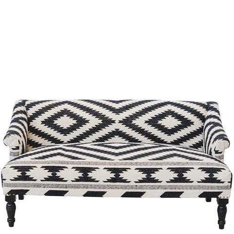 Berber Diagonal Sofa - Black / White