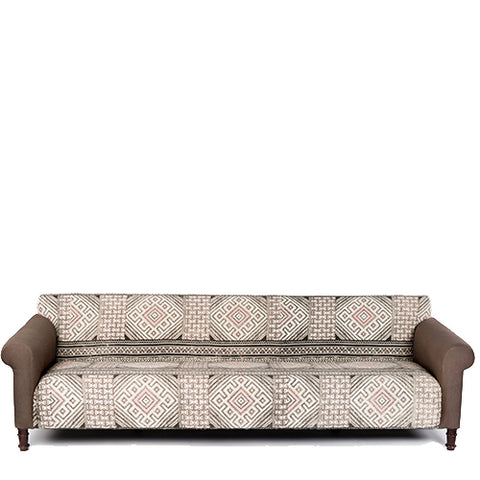 Oversized Sofa with Printed Cotton Rug
