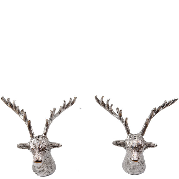 Reindeer Salt & Pepper Shaker Set - Plain Nickel