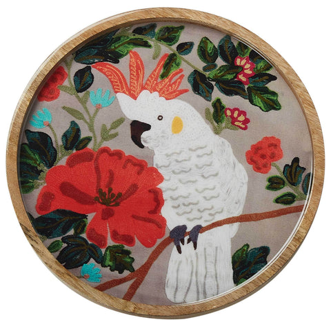 Cockatoo Round Tray - Multicolour