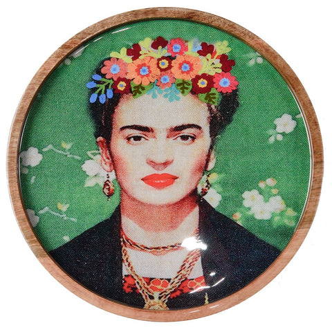 Frida Tray - Black Shawl - Green