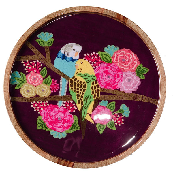 Budgie Tray - Purple