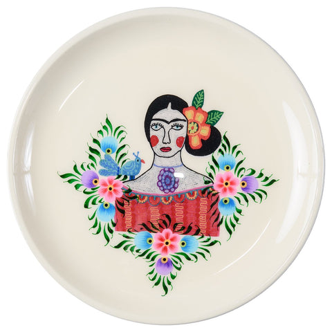 Frida Tray - Lilac Bird - White