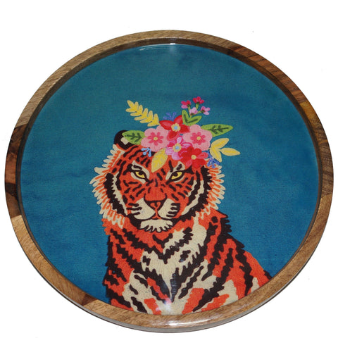 Tiger Tray - Floral Garland - Multicolour