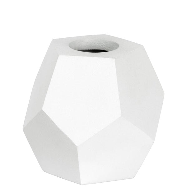 Honeycomb Vase - Pentagon - White