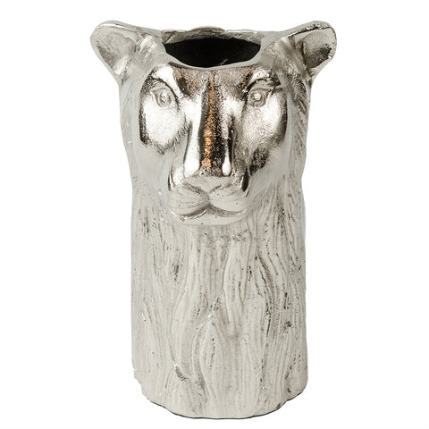 Leopard Vase - Raw Nickel