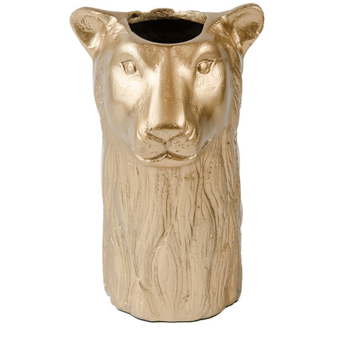 Leopard Vase - New Matt Gold
